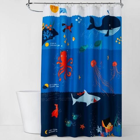 Underwater Adventure Shower Curtain - Pillowfort™ - image 1 of 2