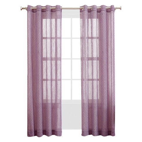 No. 918 Rosiclare Printed Crush Voile Curtain Panel - image 1 of 2