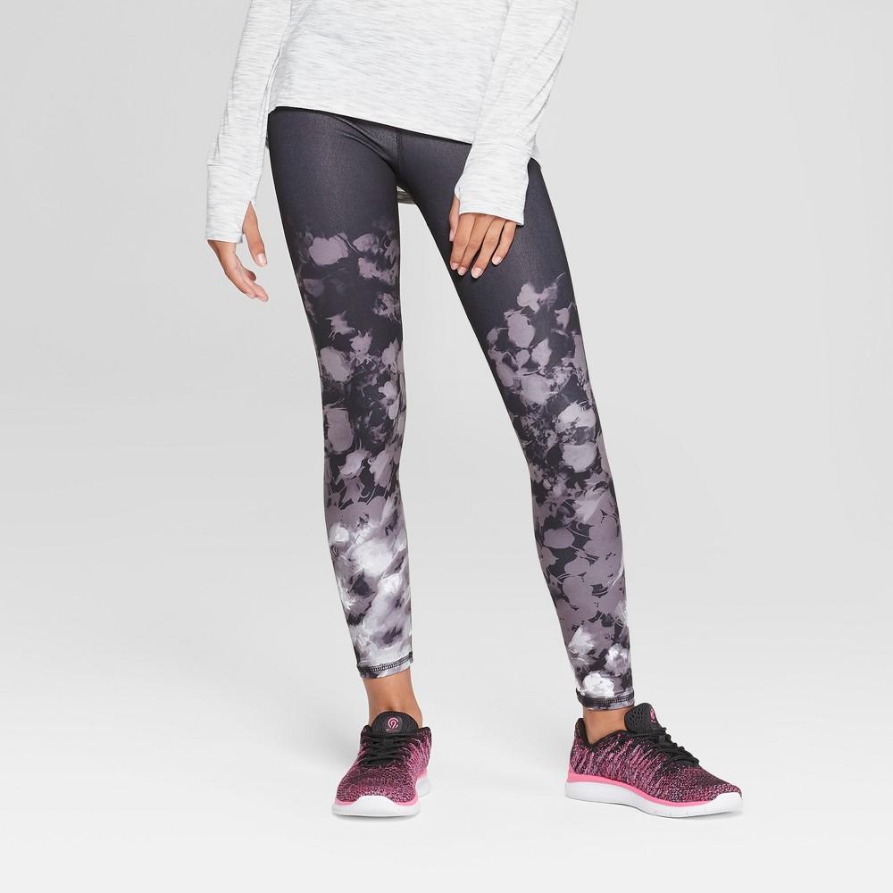 Girls' Printed Performance Leggings - C9 Champion Black Tulips M
