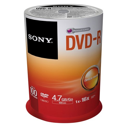 Sony 100pk DVD-R Spindle - White (100DMR47SP) - image 1 of 1