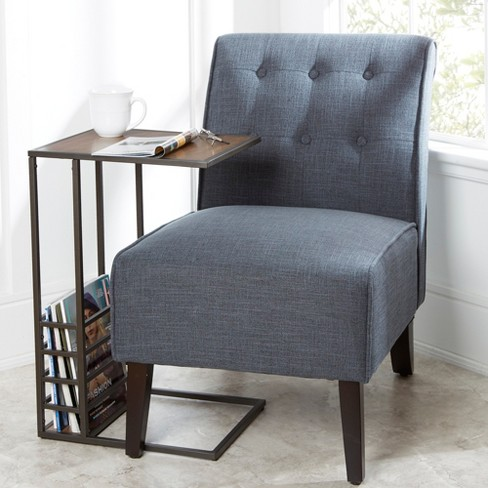 Silverwood Brycen Wood And Metal End Table Gunmetal Black - image 1 of 4