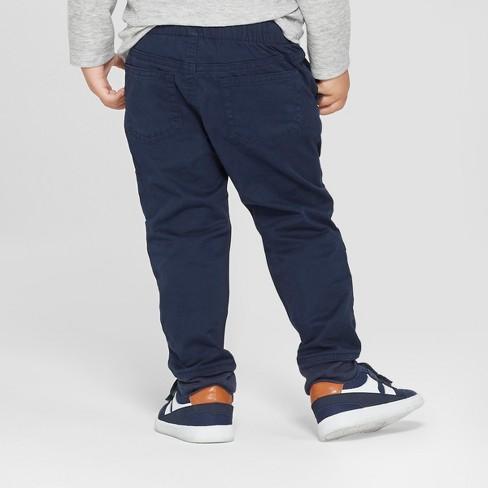 Target Toddler Boys' Reinforced Knee Jogger Fit Pull-On Pants – Cat & Jack™ Blue