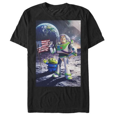 Men's Toy Story Buzz Lightyear Moon Landing T-Shirt