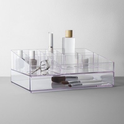 Extra Large Bathroom Plastic Tiered Cosmetic Organizer Clear - Made By Design™