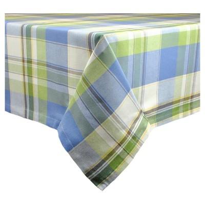84 x60  Lake House Plaid Tablecloth Blue - Design Imports