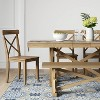 """72"""" Litchfield Rectangle Extendable Dining Table Wheat Brown - Threshold™ - image 2 of 4"""