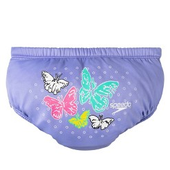 Speedo Girls Butterfly Reusable Swim Diapers M - Orchid