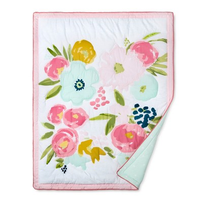 Crib Bedding Set Floral Fields 4pc   Cloud Island™   Pink/Mint : Target