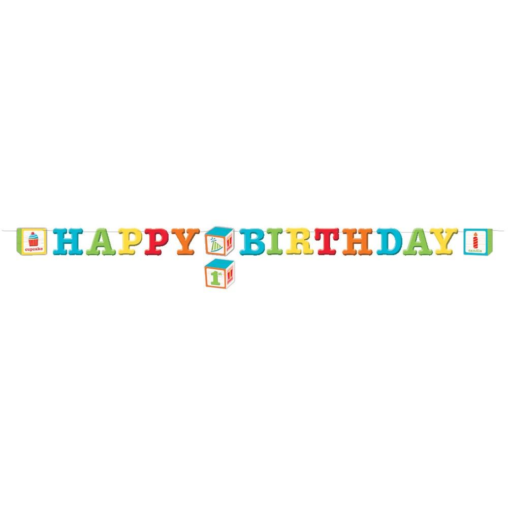 34 Happy Birthday 34 Abc Blocks Letter Banner