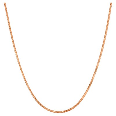 """Adjustable Snake Chain In Sterling Silver - 16"""" - 22"""""""