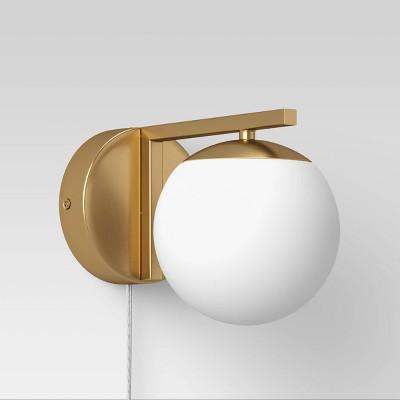 Single Globe Sconce White - Project 62™