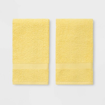 2pk Hand Towel Yellow - Room Essentials™