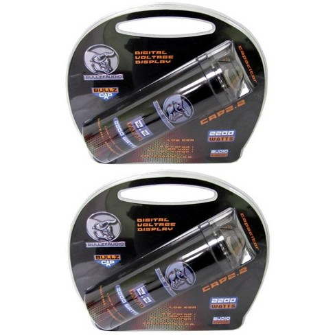 (2) BULLZ AUDIO 2200W 12V BCAP 2.2 Digital Car Power Farad Capacitors | BCAP2.2 - image 1 of 4