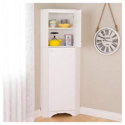 Elite Tall 2 - Door Corner Storage Cabinet - White - Prepac
