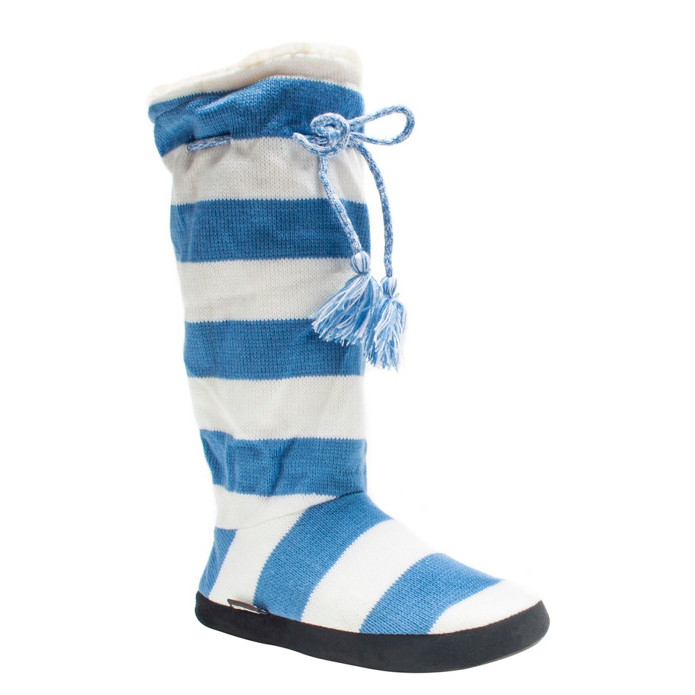 Women's Muk Luks Game Day Slipper Boots - Lite Blue M(7-8), Size: M (7-8)