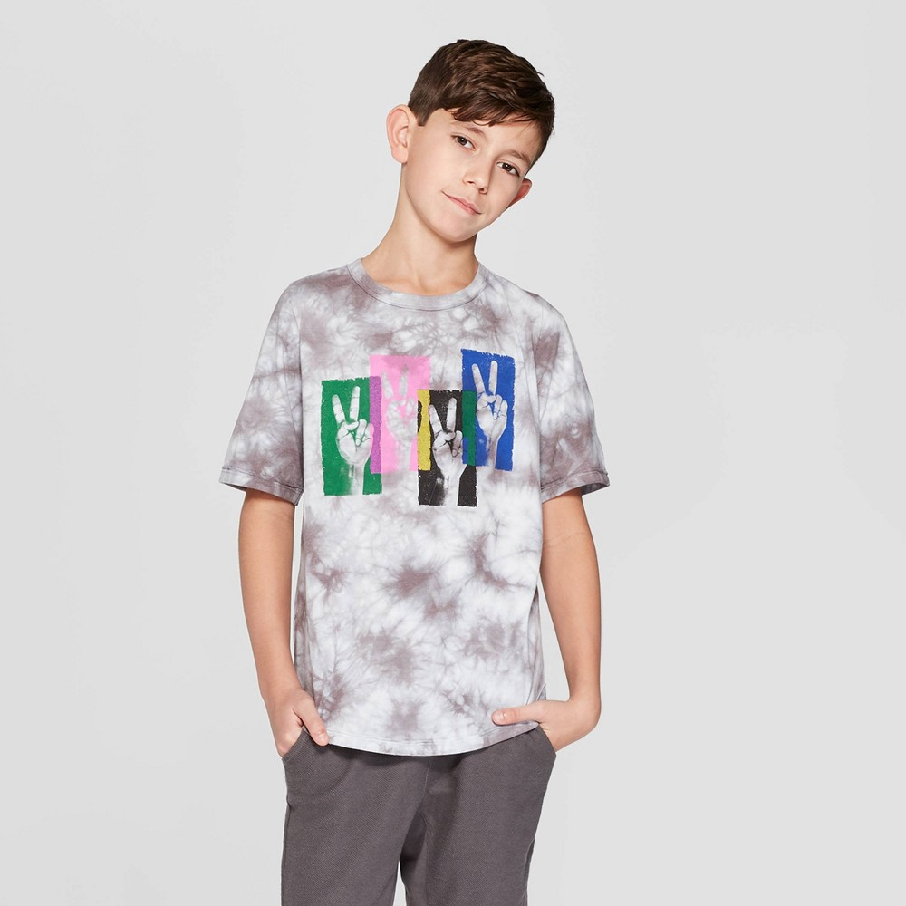 Boys' Short Sleeve Graphic T-Shirt - art class Gray Xxl, White