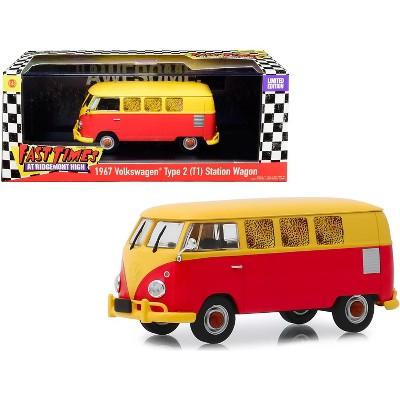 "1967 Volkswagen Type 2 (T1) Station Wagon Bus ""Fast Times at Ridgemont High"" 1982 Movie 1/43 Diecast Model by Greenlight"