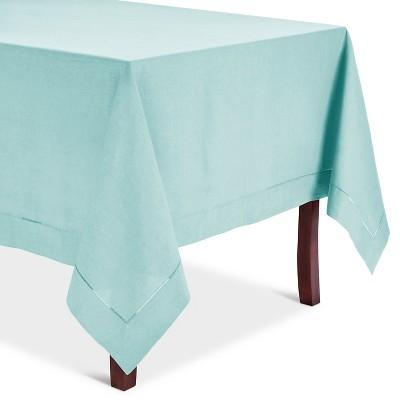 Hemstitched Tablecloth Aqua (72  Round)