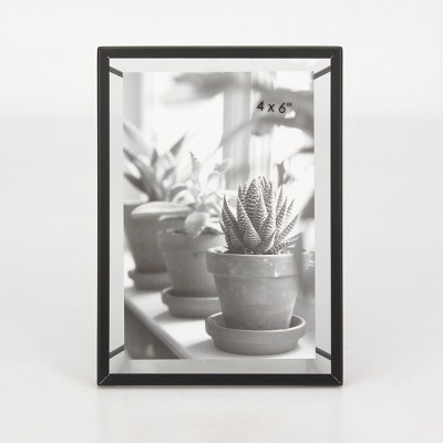 "4"" x 6"" Frame with Symmetrical Wire Back Satin Black - Project 62™"