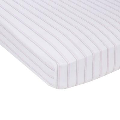 MiracleWare Muslin Crib Sheet Pink Stripe