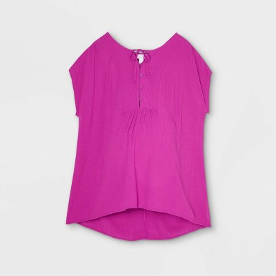 Cap Sleeve Button-Front with Tie-Front Maternity Blouse - Isabel Maternity by Ingrid & Isabel™