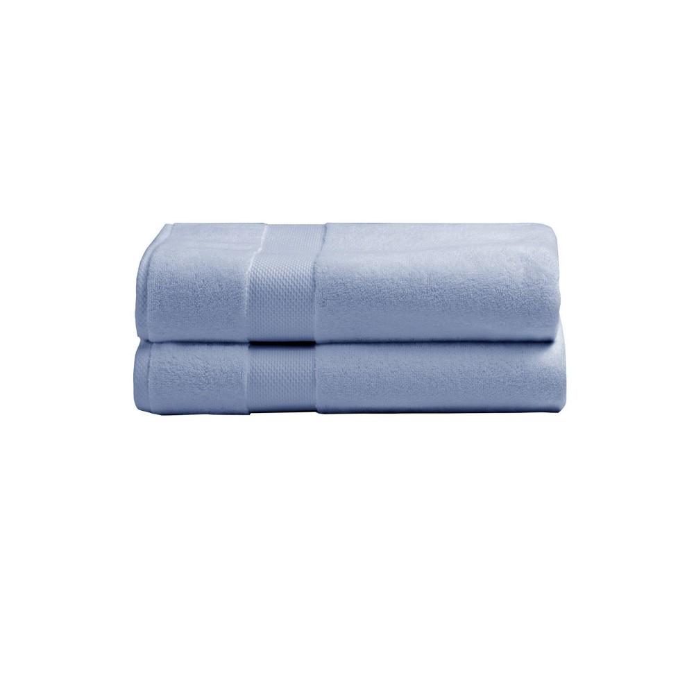 2pk Heritage American Bath Towel Set Blue Charisma