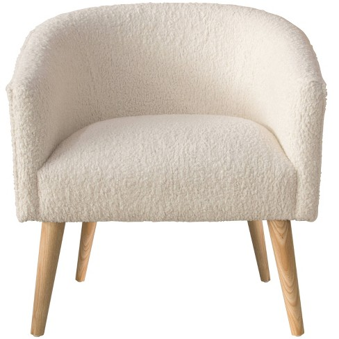 Deco Chair in Sheepskin Natural Cream - Skyline Furniture - image 1 of 4