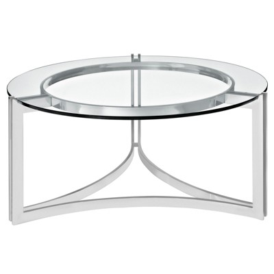 Signet Stainless Steel Coffee Table Silver - Modway