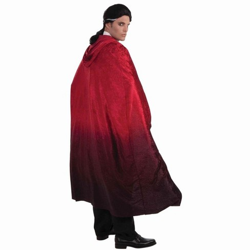 """Forum Novelties 56"""" Red Two Tone Faded Vampire Cape Costume Accessory - image 1 of 1"""
