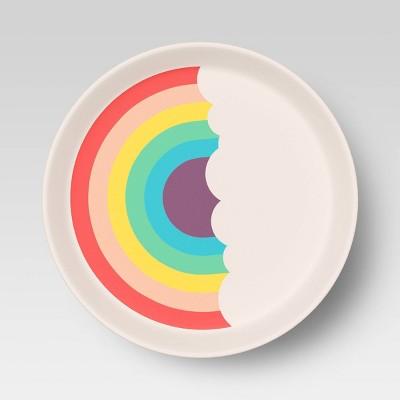 """7.3"""" Bamboo and Melamine Kids Dinner Plate - Pillowfort™"""