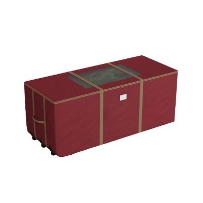 Elf Stor 9' Rolling Christmas Tree Storage Duffel Bag Red