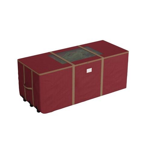 Elf Stor 9' Rolling Christmas Tree Storage Duffel Bag Red - image 1 of 4