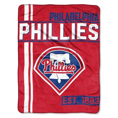 MLB Philadelphia Phillies Micro Fleece Throw Blanket