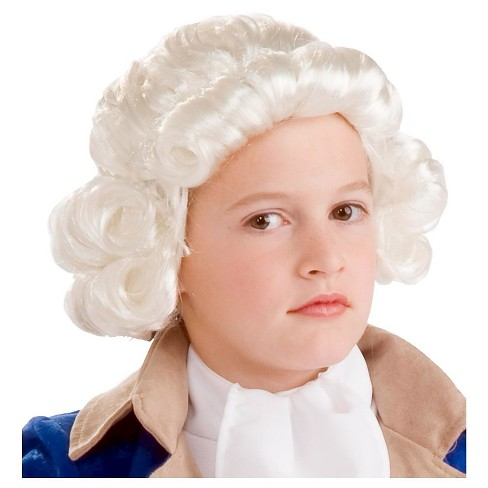 Kids' Halloween Colonial Boy Costume Wig White - image 1 of 1