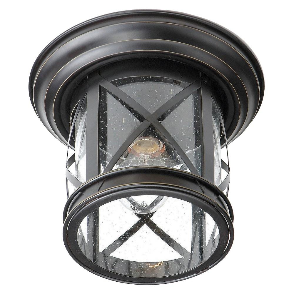 Image of Tennessee Flush-mount Light In Bronze