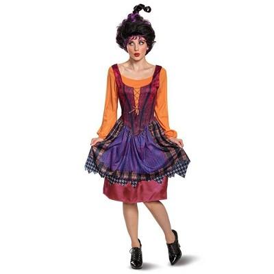 Adult Disney Hocus Pocus Mary Sanderson Halloween Costume Dress