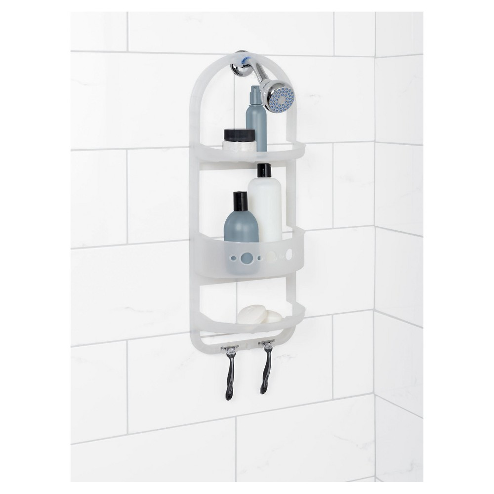 Frosted Plastic Over-The-Shower Caddy - Zenna Home