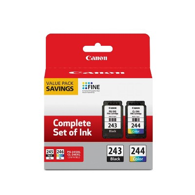 Canon PG-243 Black 244 Color Combo 2pk Ink Cartridges - Black Tri-color (1287C006)