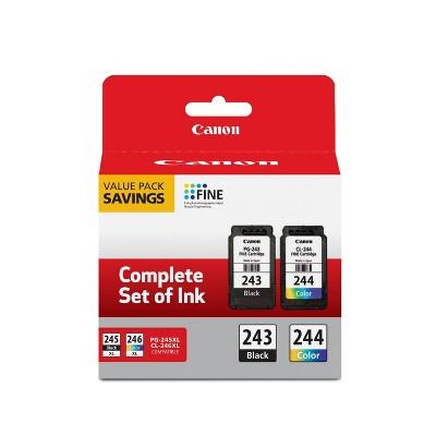 Canon PG-243 Black 244 Color Combo 2pk Ink Cartridges - Black Tri-color (1287C006)