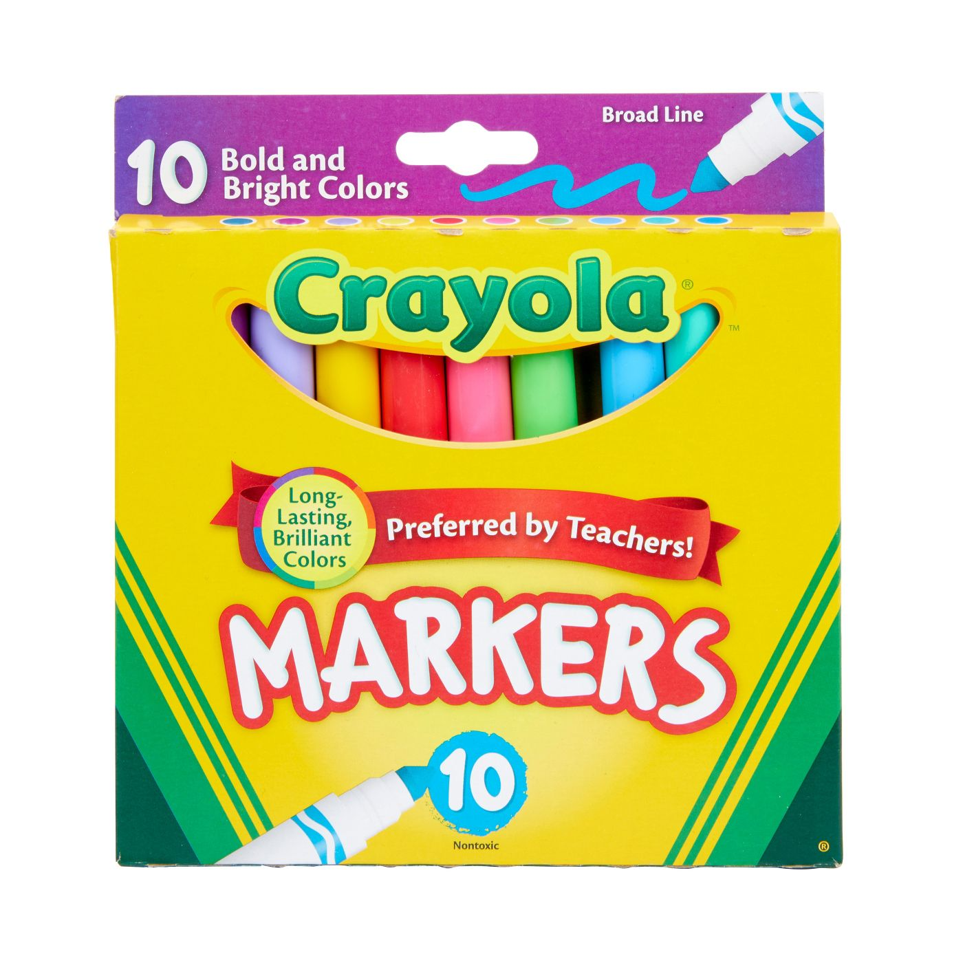 10-Count Crayola Bold and Bright Broadline Markers