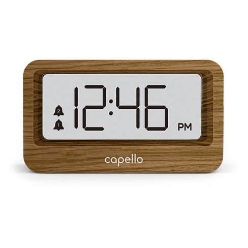 Digital Alarm Clock with USB Charger Lark Finish - Capello - image 1 of 2