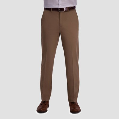 Haggar Men's Premium No Iron Straight Fit Flat Front Casual Pants