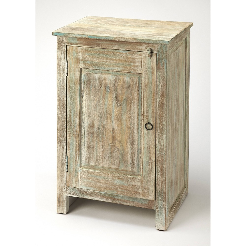 Hollister Distressed Wood Accent Cabinet Gray - Butler Specialty