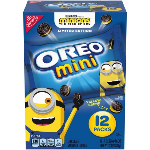 Nabisco Minions Mini Oreo Cookies Limited Edition Cookies - 12ct - image 1 of 4