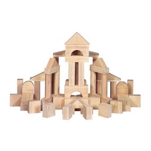 Melissa & Doug Standard Unit Solid-Wood Building Blocks With Wooden Storage Tray (60pc) - image 1 of 4