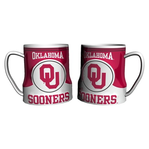 Oklahoma Sooners Boelter Brands 2 Pack Game Time Coffee Mug - Red/ White (20 oz) - image 1 of 1