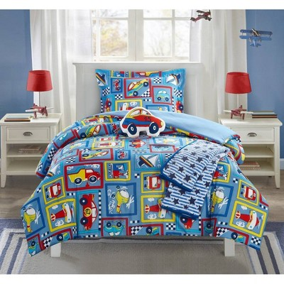 4pc Twin Indy Comforter Set Blue - Chic Home Design