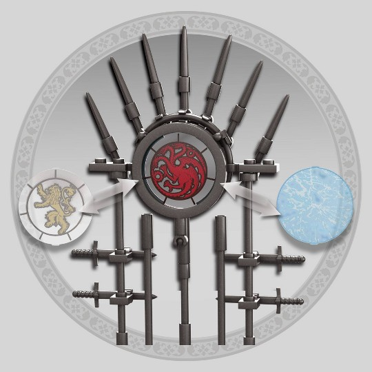 Mega Construx Game of Thrones The Iron Throne Construction Set image number null