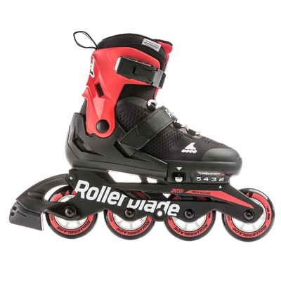 Rollerblade USA Microblade Boys Adjustable Fitness Inline Skate, Size 2-5, Red