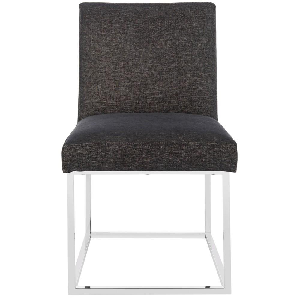 Jenette Velvet Side Chair Black - Safavieh